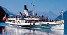 Swiss Lake Steamer Timetable paddle steamer cruise by old heritage
